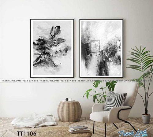 Bo tranh Canvas treo tuong trang tri phong khach truu tuong TT1106