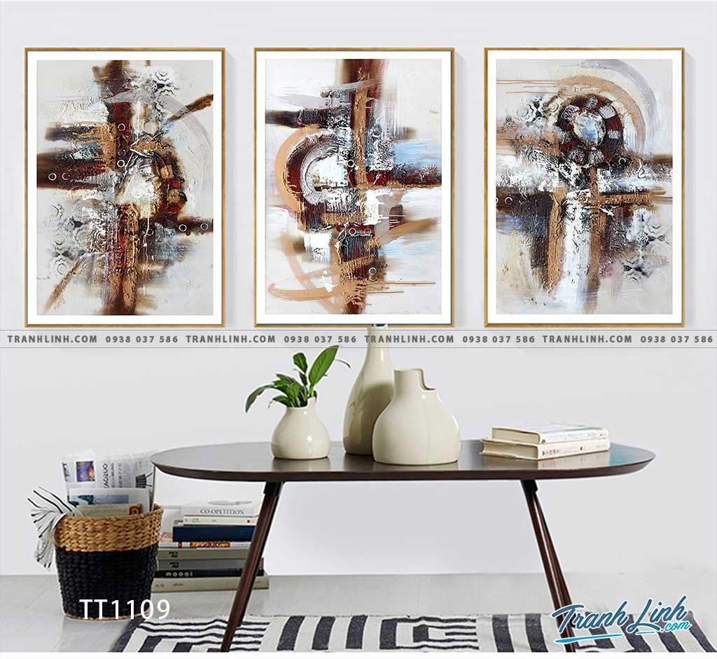 Bo tranh Canvas treo tuong trang tri phong khach truu tuong TT1109