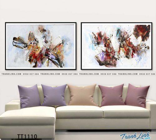 Bo tranh Canvas treo tuong trang tri phong khach truu tuong TT1110
