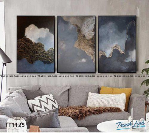 Bo tranh Canvas treo tuong trang tri phong khach truu tuong TT1125