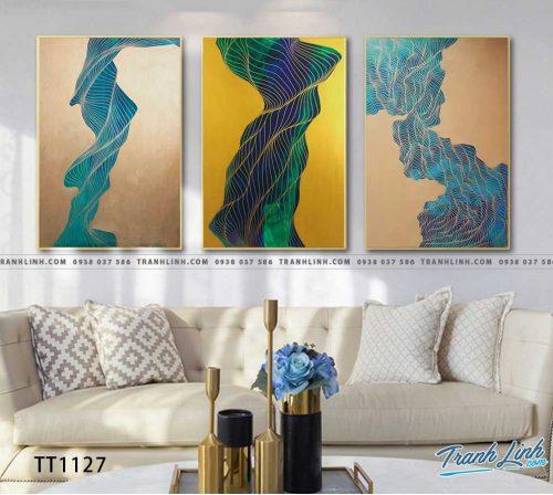 Bo tranh Canvas treo tuong trang tri phong khach truu tuong TT1127