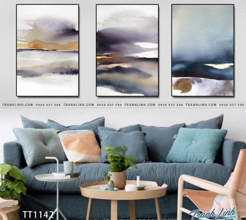 Bo tranh Canvas treo tuong trang tri phong khach truu tuong TT1142