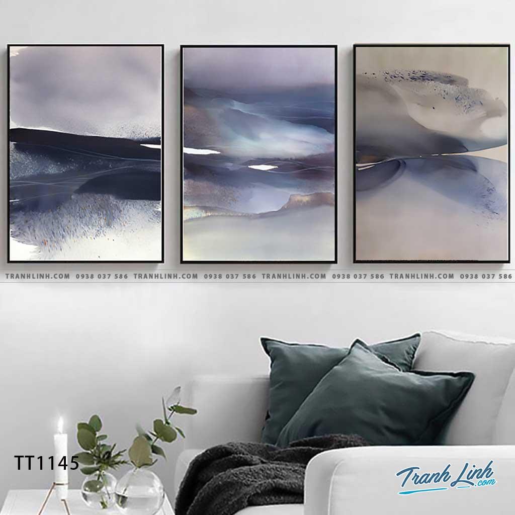 Bo tranh Canvas treo tuong trang tri phong khach truu tuong TT1145