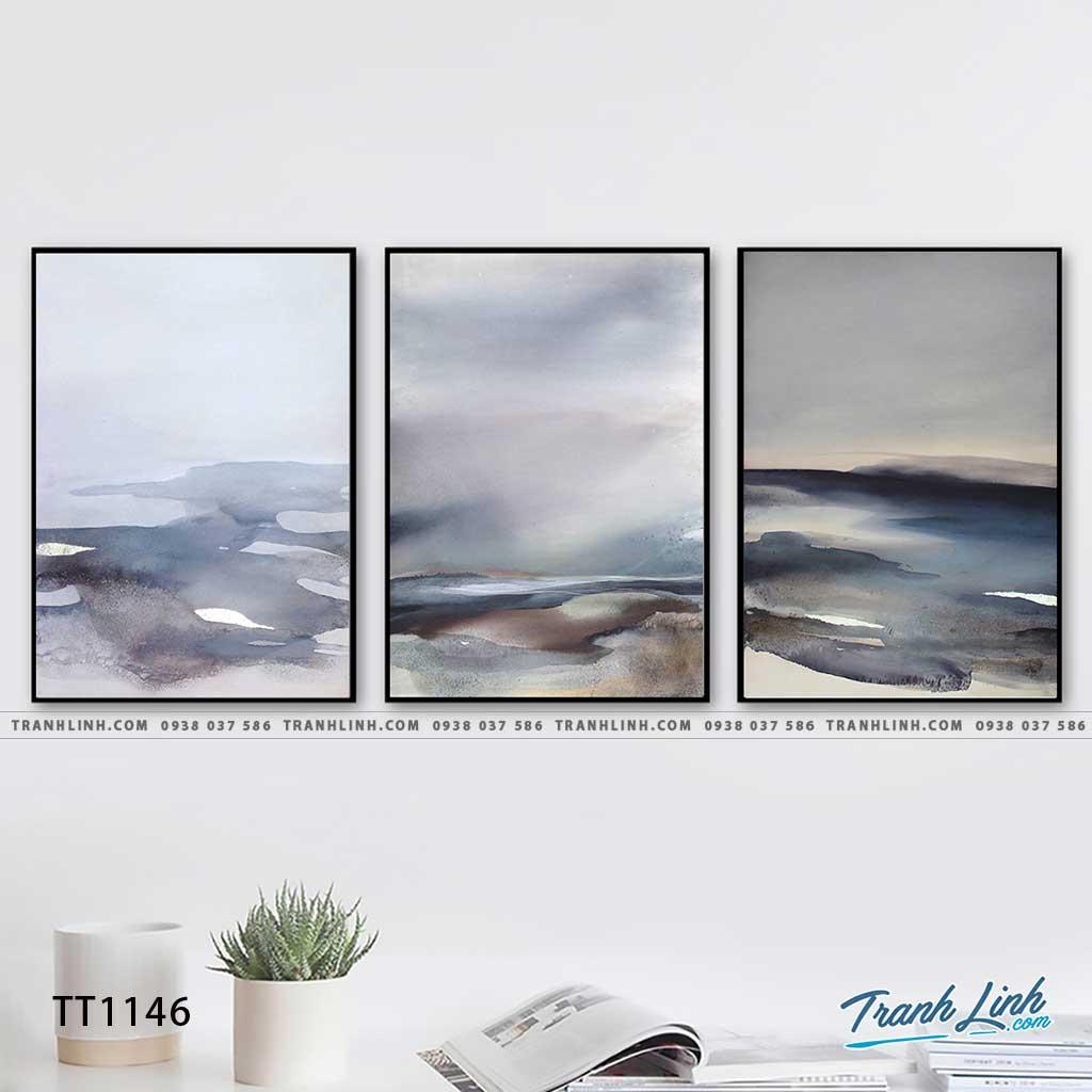 Bo tranh Canvas treo tuong trang tri phong khach truu tuong TT1146