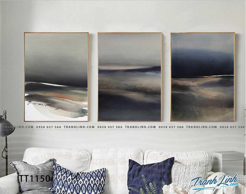 Bo tranh Canvas treo tuong trang tri phong khach truu tuong TT1150