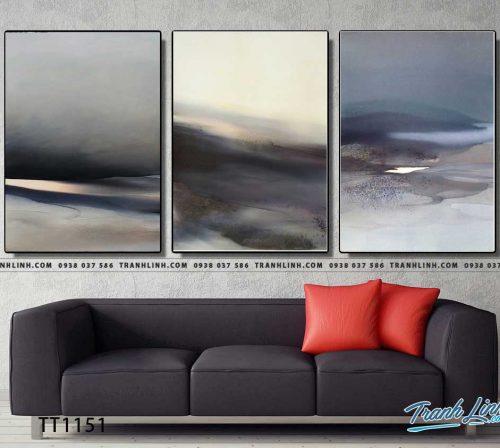 Bo tranh Canvas treo tuong trang tri phong khach truu tuong TT1151