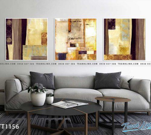Bo tranh Canvas treo tuong trang tri phong khach truu tuong TT1156