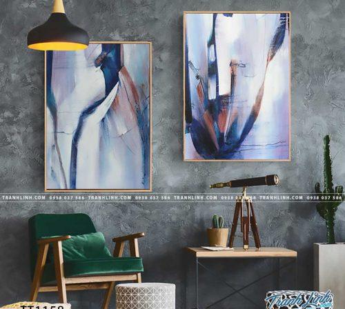Bo tranh Canvas treo tuong trang tri phong khach truu tuong TT1158