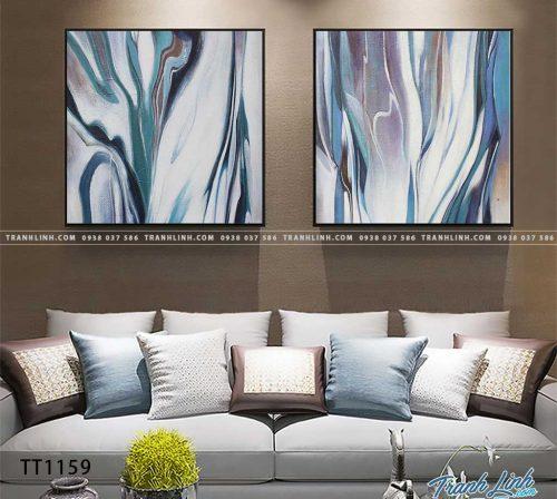 Bo tranh Canvas treo tuong trang tri phong khach truu tuong TT1159