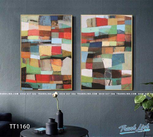 Bo tranh Canvas treo tuong trang tri phong khach truu tuong TT1160