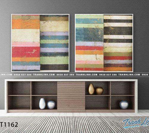Bo tranh Canvas treo tuong trang tri phong khach truu tuong TT1162