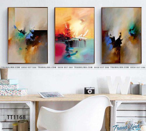 Bo tranh Canvas treo tuong trang tri phong khach truu tuong TT1168