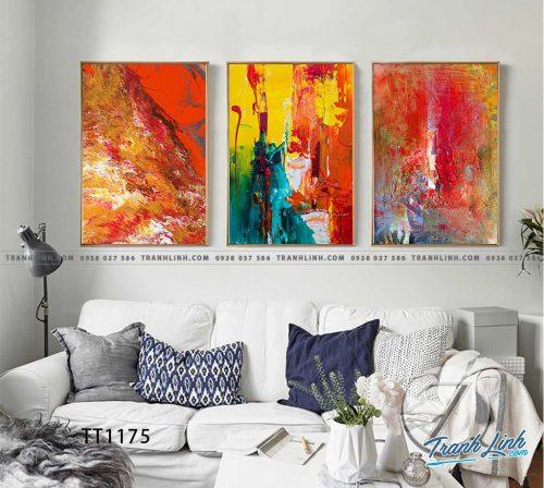 Bo tranh Canvas treo tuong trang tri phong khach truu tuong TT1175