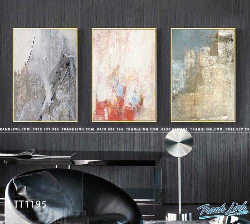 Bo tranh Canvas treo tuong trang tri phong khach truu tuong TT1195