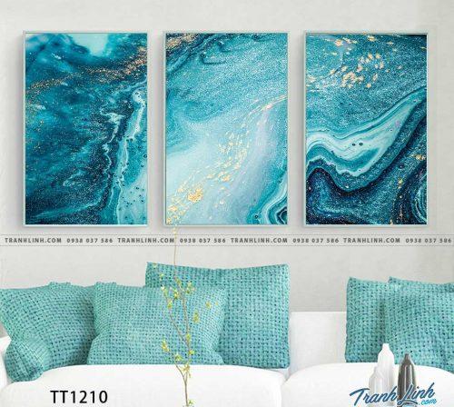 Bo tranh Canvas treo tuong trang tri phong khach truu tuong TT1210