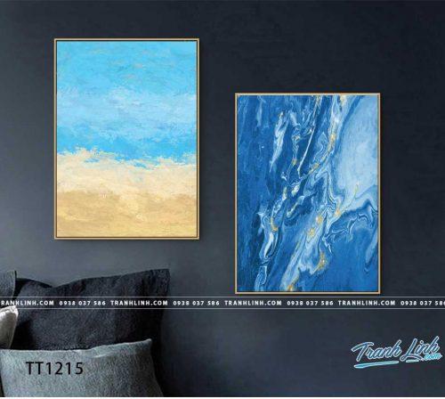 Bo tranh Canvas treo tuong trang tri phong khach truu tuong TT1215
