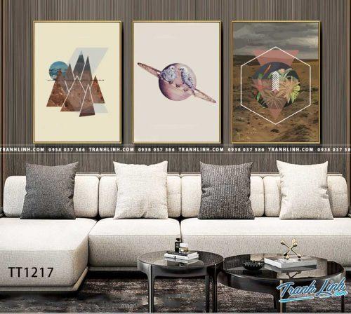 Bo tranh Canvas treo tuong trang tri phong khach truu tuong TT1217