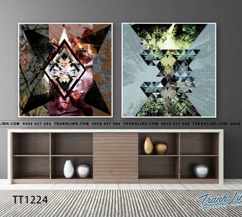 Bo tranh Canvas treo tuong trang tri phong khach truu tuong TT1224