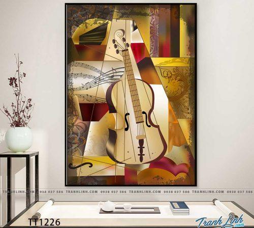 Bo tranh Canvas treo tuong trang tri phong khach truu tuong TT1226