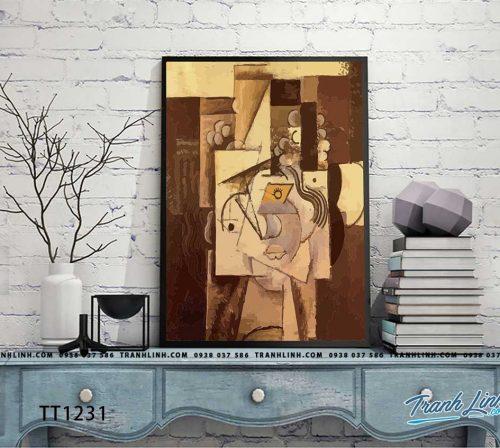 Bo tranh Canvas treo tuong trang tri phong khach truu tuong TT1231