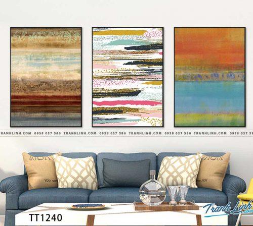 Bo tranh Canvas treo tuong trang tri phong khach truu tuong TT1240