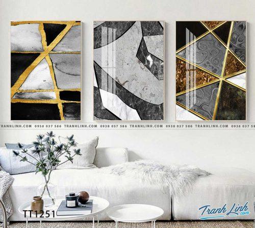 Bo tranh Canvas treo tuong trang tri phong khach truu tuong TT1251