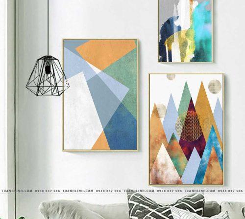 Bo tranh Canvas treo tuong trang tri phong khach truu tuong TT1253