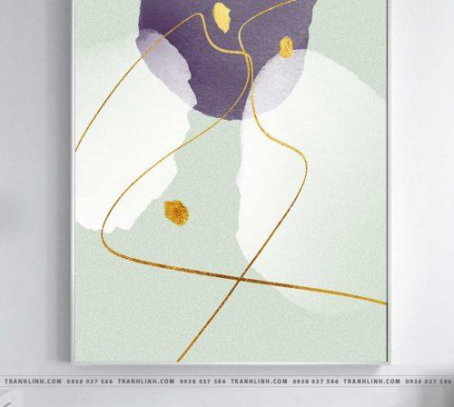 Bo tranh Canvas treo tuong trang tri phong khach truu tuong TT1255