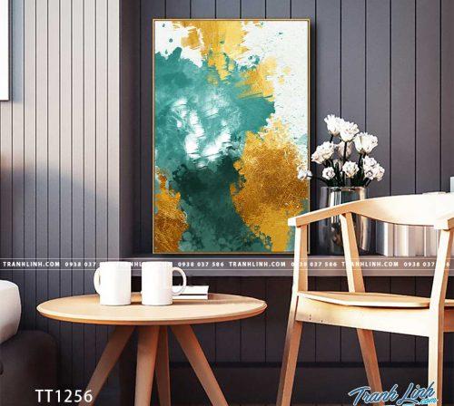 Bo tranh Canvas treo tuong trang tri phong khach truu tuong TT1256