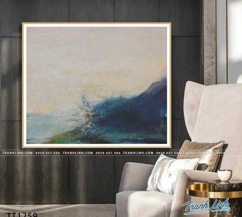 Bo tranh Canvas treo tuong trang tri phong khach truu tuong TT1259