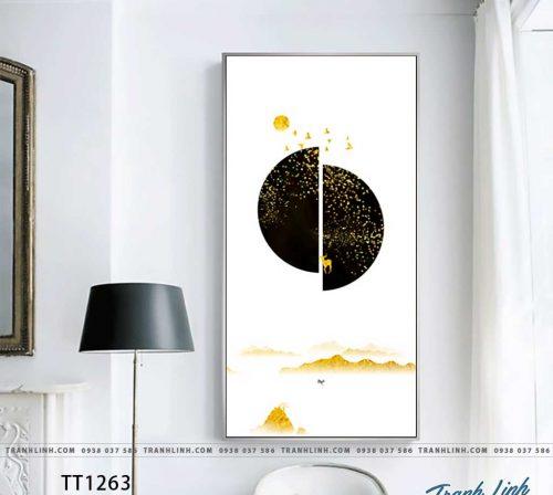 Bo tranh Canvas treo tuong trang tri phong khach truu tuong TT1263