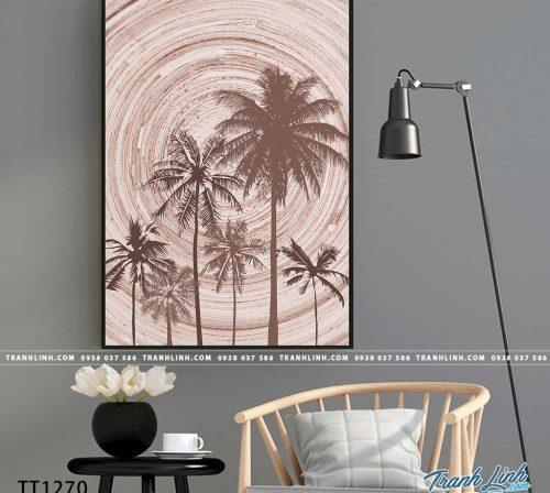 Bo tranh Canvas treo tuong trang tri phong khach truu tuong TT1270