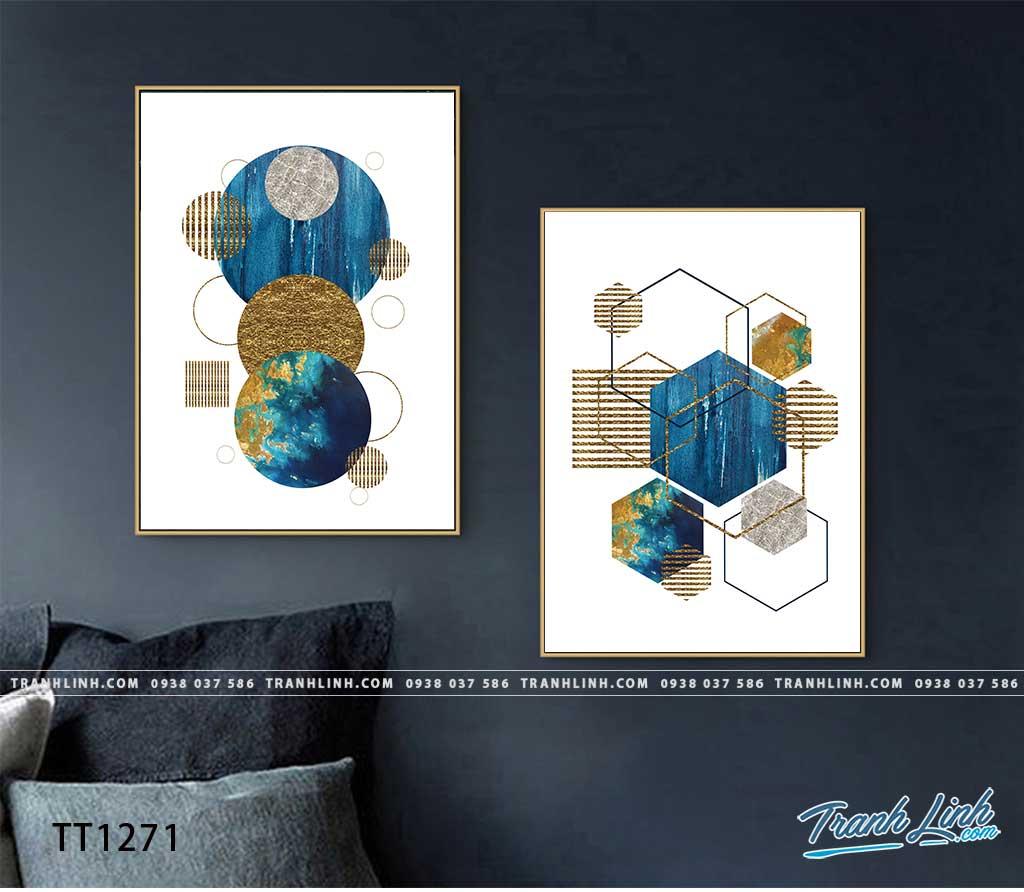 Bo tranh Canvas treo tuong trang tri phong khach truu tuong TT1271