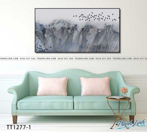 Bo tranh Canvas treo tuong trang tri phong khach truu tuong TT1277 1