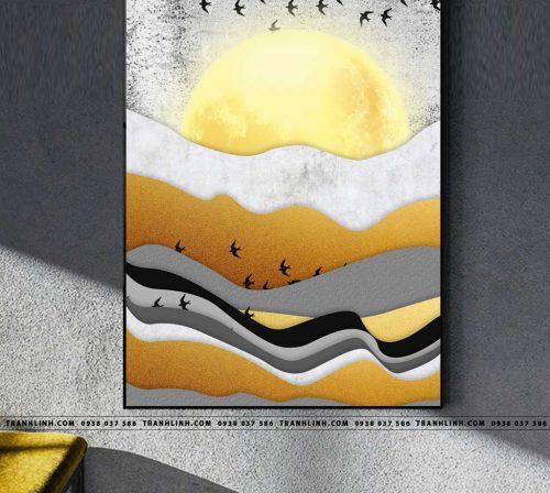 Bo tranh Canvas treo tuong trang tri phong khach truu tuong TT1278
