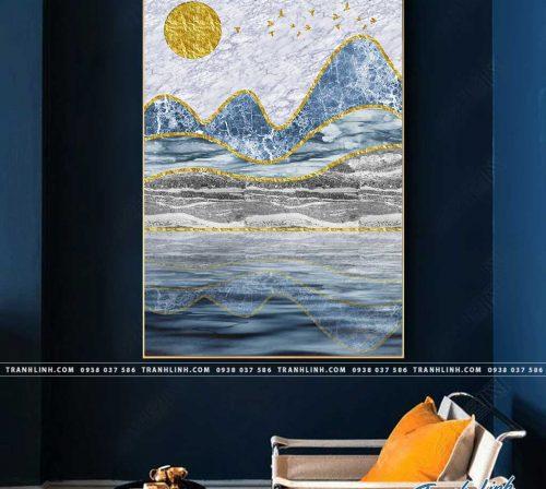 Bo tranh Canvas treo tuong trang tri phong khach truu tuong TT1279