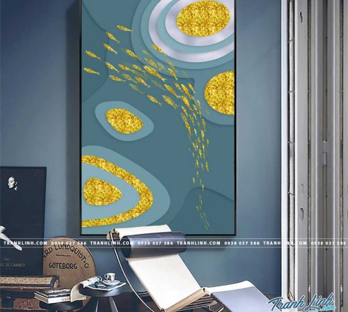 Bo tranh Canvas treo tuong trang tri phong khach truu tuong TT1282