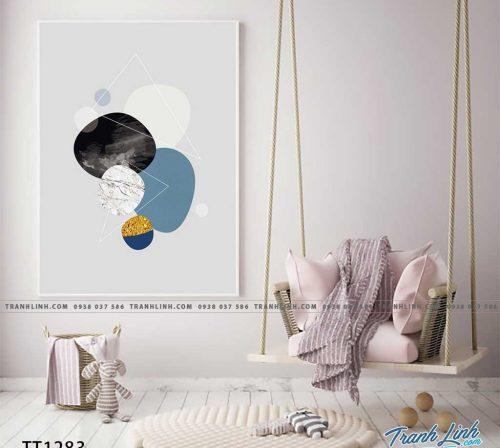 Bo tranh Canvas treo tuong trang tri phong khach truu tuong TT1283