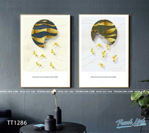 Bo tranh Canvas treo tuong trang tri phong khach truu tuong TT1286