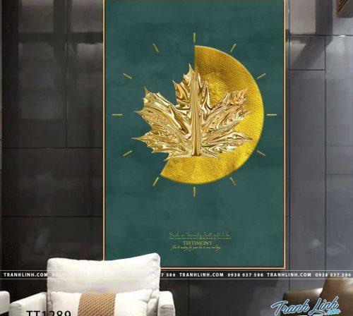 Bo tranh Canvas treo tuong trang tri phong khach truu tuong TT1289