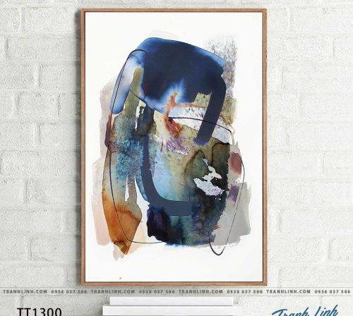 Bo tranh Canvas treo tuong trang tri phong khach truu tuong TT1300