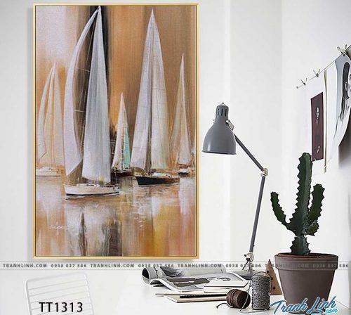 Bo tranh Canvas treo tuong trang tri phong khach truu tuong TT1313