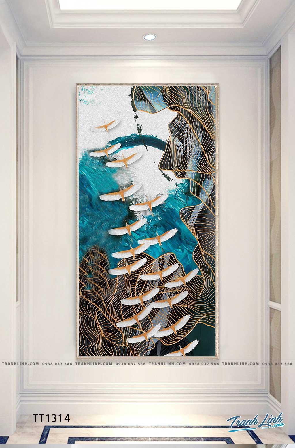 Bo tranh Canvas treo tuong trang tri phong khach truu tuong TT1314