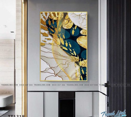 Bo tranh Canvas treo tuong trang tri phong khach truu tuong TT1318