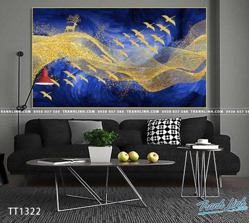 Bo tranh Canvas treo tuong trang tri phong khach truu tuong TT1322