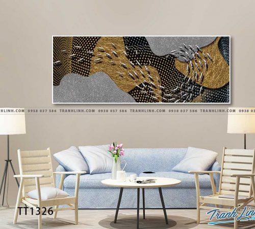 Bo tranh Canvas treo tuong trang tri phong khach truu tuong TT1326