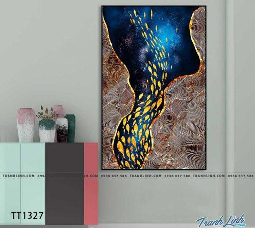 Bo tranh Canvas treo tuong trang tri phong khach truu tuong TT1327