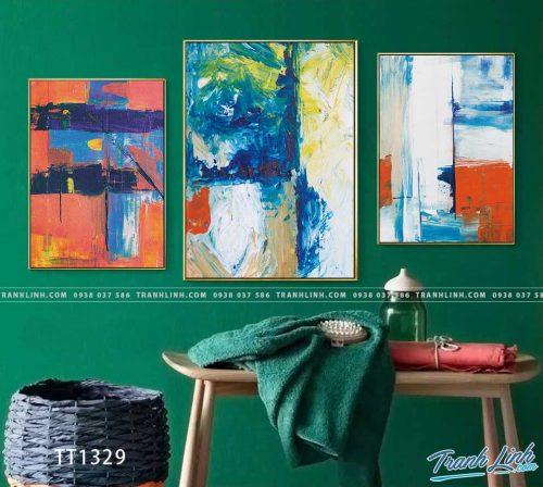 Bo tranh Canvas treo tuong trang tri phong khach truu tuong TT1329