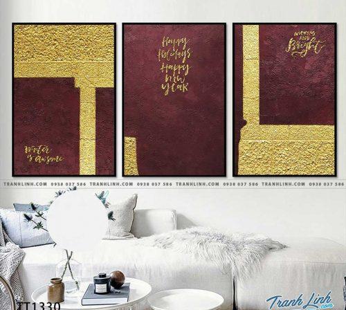 Bo tranh Canvas treo tuong trang tri phong khach truu tuong TT1330