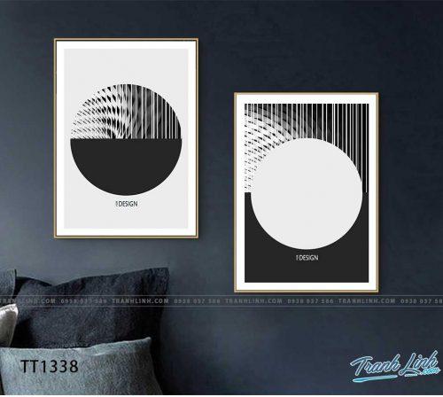 Bo tranh Canvas treo tuong trang tri phong khach truu tuong TT1338